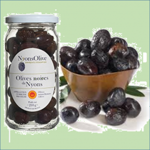 Nyons table black olives