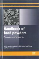 Handbook of food powders, Ed. Woodhead Publishing