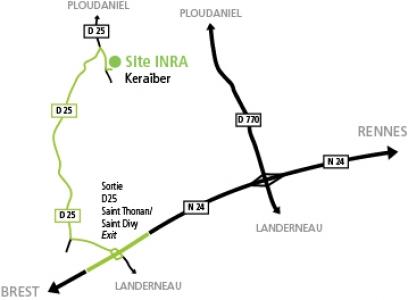 Plan d'accès Ploudaniel