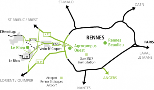 Access Map Rennes