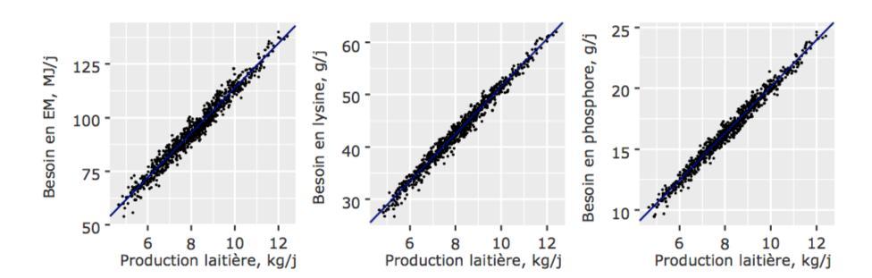 Besoins nutritionnels - production laitière