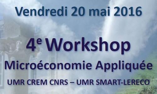 2016-Workshop Microéconomie Appliquée