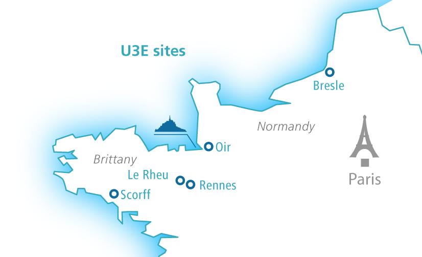 Map of U3E sites